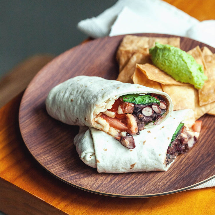 Fri, Oct 4 - Veggie Burrito With Chips And Pea Mash - Living Menu