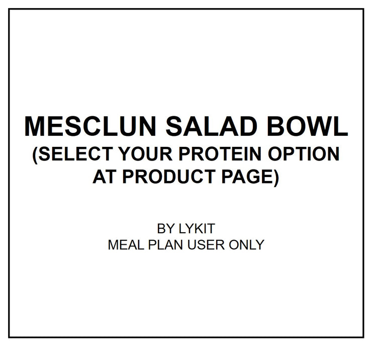 Mon, Oct 21 - Mesclun Salad Bowl With Citrus Ponzu Dressing  (Vegan) - Living Menu