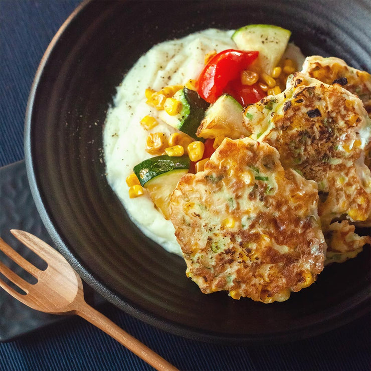 Fri, Oct 18 - Corn Fritters Served With Mash Potato And Seasonal Vegetables - Living Menu