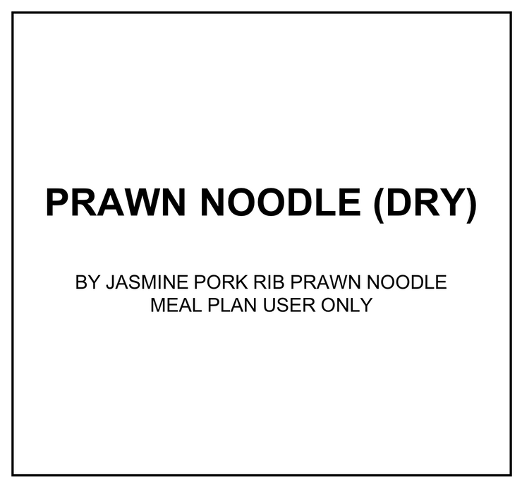 Wed, Feb 19 - Prawn Noodle (Dry) - Living Menu