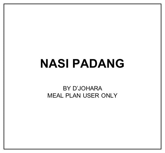 Fri, Mar 13 - Nasi Padang - Living Menu