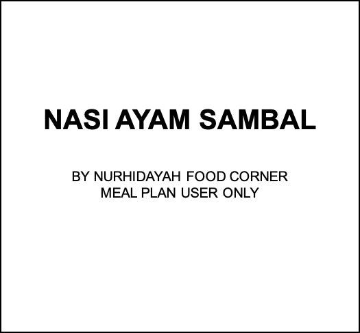 Tue, Nov 5 - Nasi Ayam Sambal - Living Menu