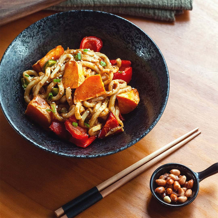 Mon, Jun 15 - Hot & Spicy Peanut Noodles With Roasted Vegetables (Vegan)