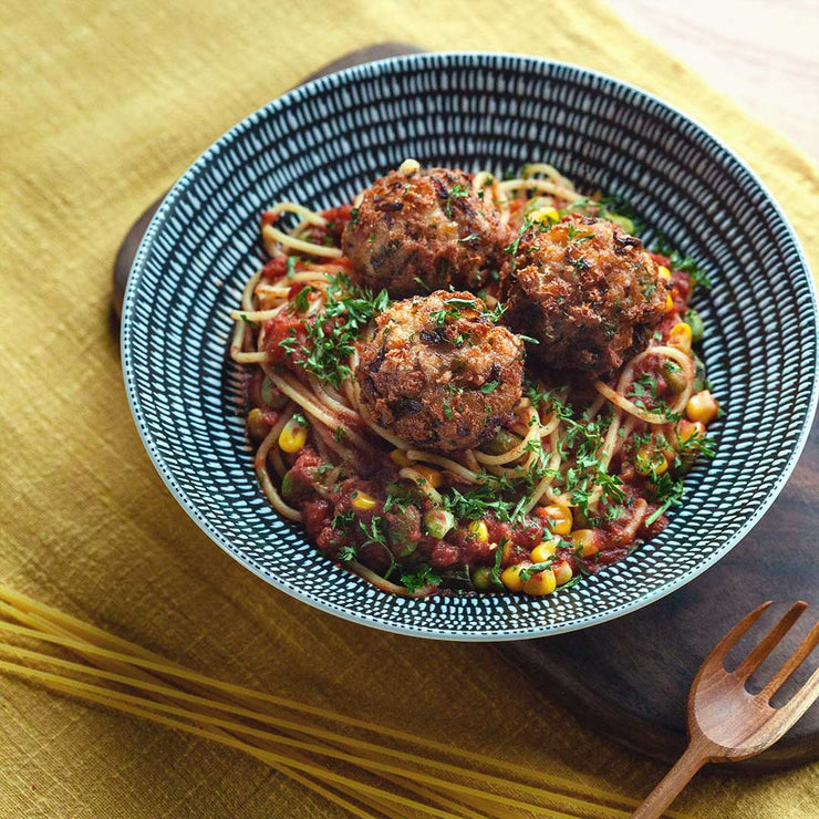 Wed, Nov 27 - Cheesy Chicken Meat Ball Pasta - Living Menu
