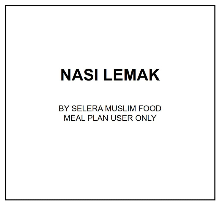 Fri, Oct 18 - Nasi Lemak - Living Menu