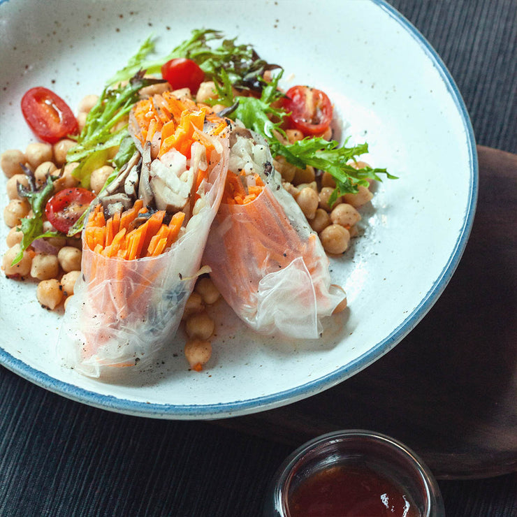 Thu, Sep 26 - Vietnamese Spring Roll With Chickpea Salad (Vegan) - Living Menu