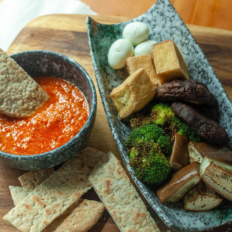 Thurs, Aug 22 - Assorted Vegetable Platter With Flat Bread And Romesco Dipping
