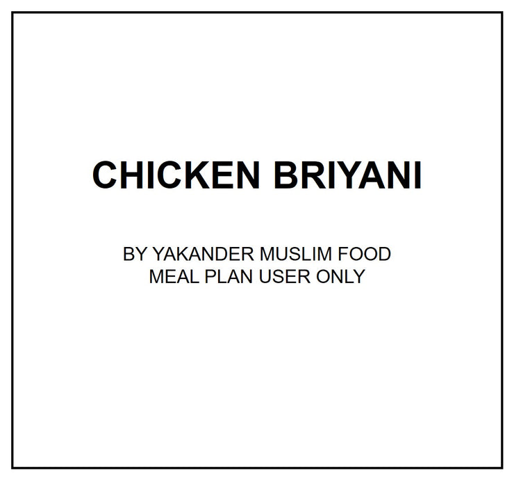 Mon, July 22 - Chicken Briyani - Living Menu
