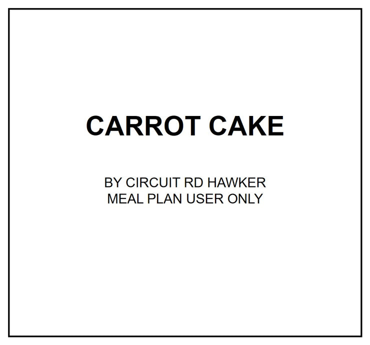 Fri, Aug 2 - Carrot Cake - Living Menu