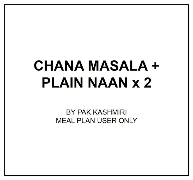 Wed, Sep 4 - Channa Masala + Plain Naan x 02 - Living Menu