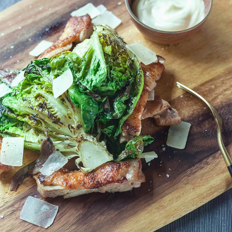 Wed, Sep 4 - Deconstructed Caesar Salad with Truffle Garlic Aioli - Living Menu