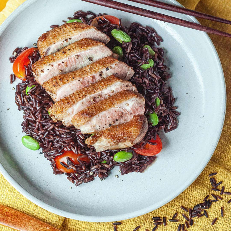 Thu, Nov 14 - Duck Breast With Black Miso Rice - Living Menu