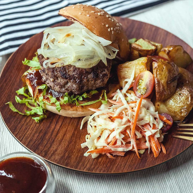 Mon, July 15 - Lamb Burger with Coleslaw and Roasted Potatoes - Living Menu