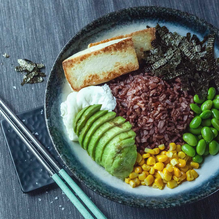 Fri, Aug 30 - Fragrant Brown Rice Served With Tua Kwa, Seaweed, Edamame and Avocado (Vegan) - Living Menu