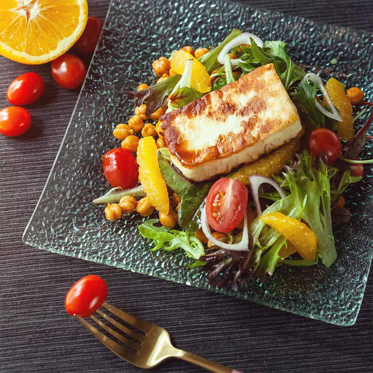 Fri, Aug 16 - Grilled Haloumi Served with Mesclun Salad Tossed with Orange Vinaigrette - Living Menu