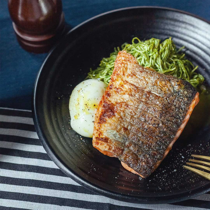 Mon, July 29 - Grilled Salmon with Miso Pesto Ramen, Soft Cooked Egg and Seasonal Vegetables