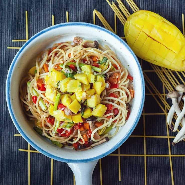 Fri, July 12 - Aglio Olio with Fresh Mango and Seasonal Vegetables