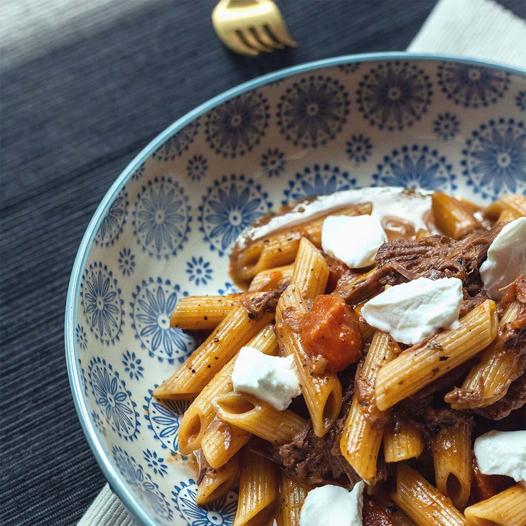 Wed, June 26 - Beef Ragu Penne Pasta with Ricotta - Living Menu
