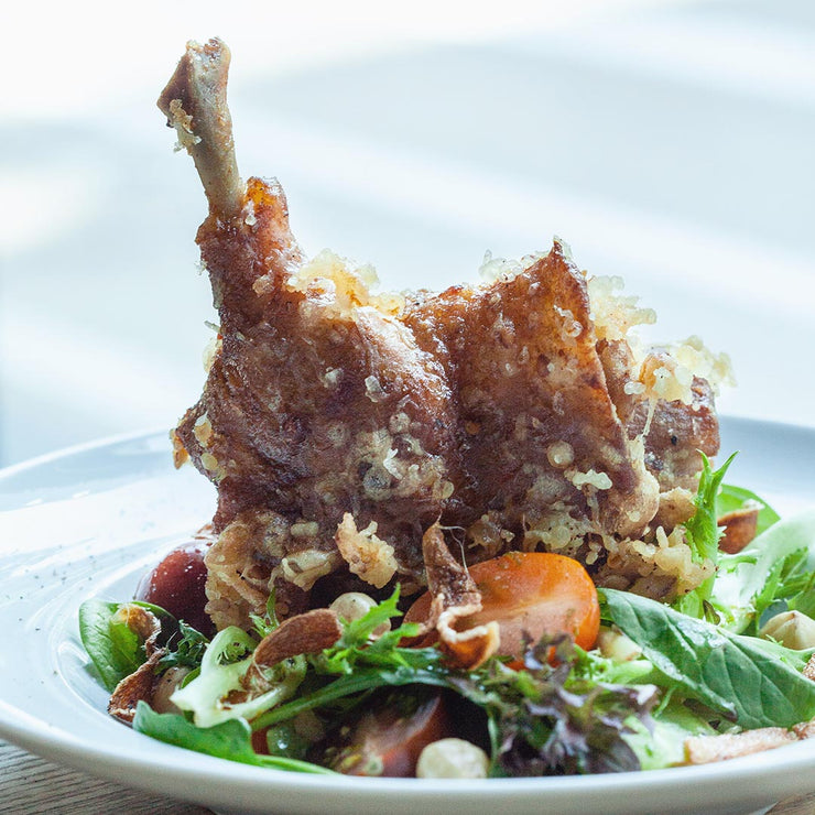 Thurs, Aug 22 - Confit Duck Leg With Mesclun Salad And Vegetables