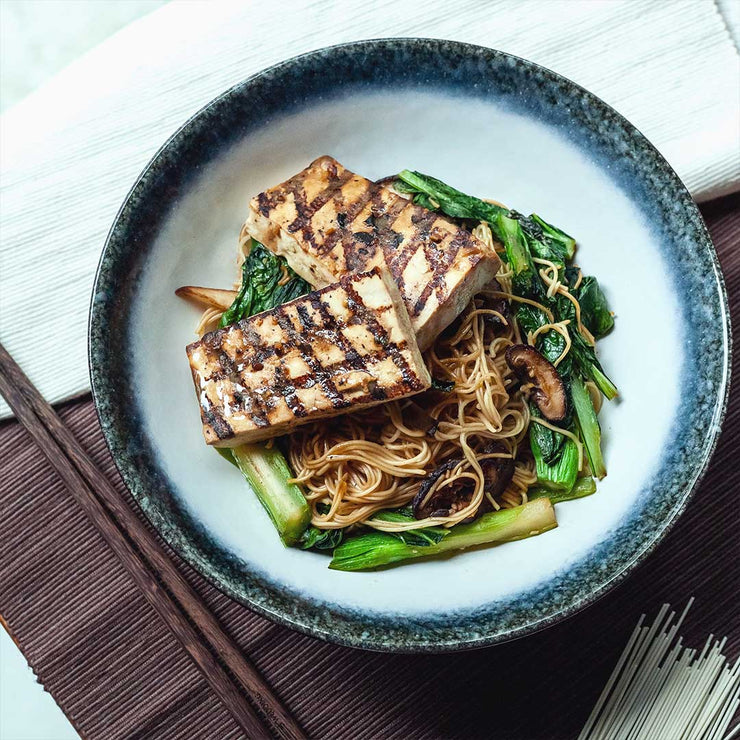 Thurs, July 4 - Grilled Miso Glazed Beancurd with Soba and Vegetables