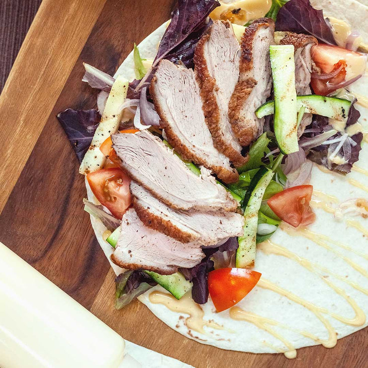 Thurs, July 4 - Spiced Roast Duck Burrito with Garlic Aioli