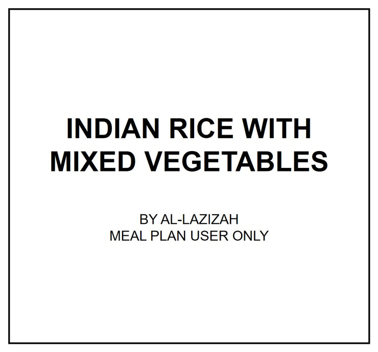 Mon, July 29 - Indian Rice with Mixed Vegetables - Living Menu