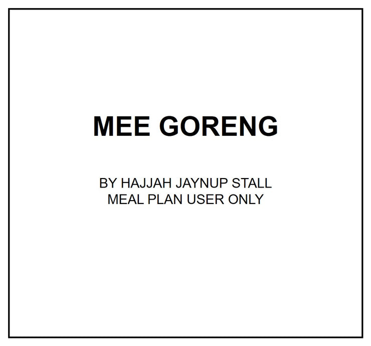 Wed, July 24 - Mee Goreng - Living Menu
