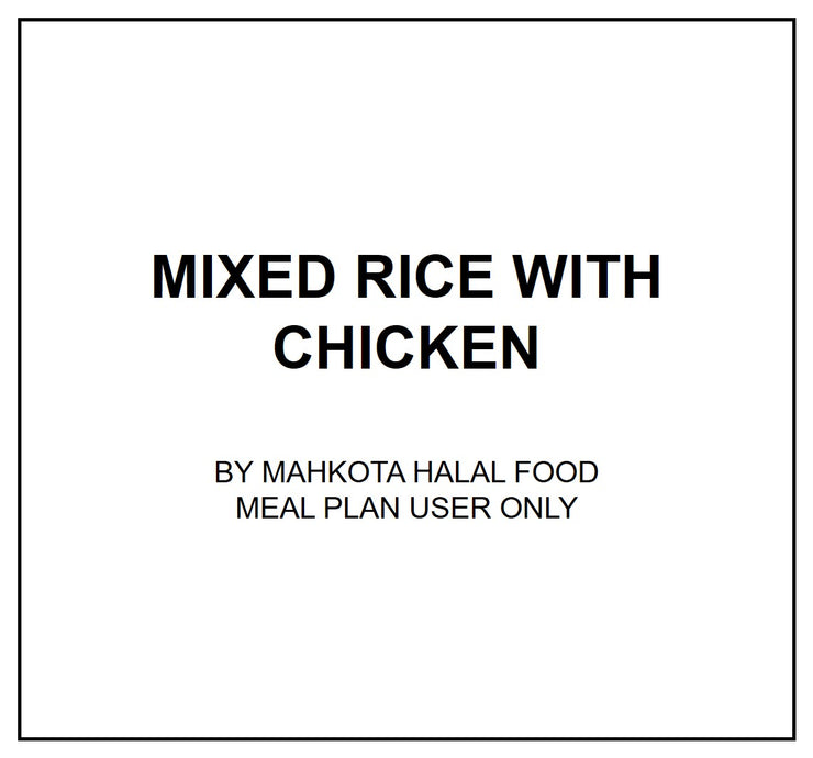 Fri, Aug 2 - Mixed rice with chicken - Living Menu