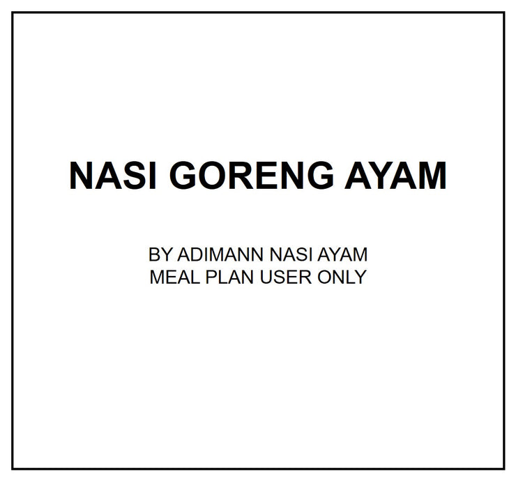 Tue, July 23 - Nasi Goreng Ayam - Living Menu