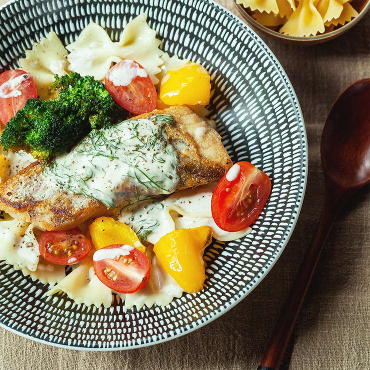 Wed, Nov 13 - Pan Grilled Fish With Creamy Lemon Dill Pasta