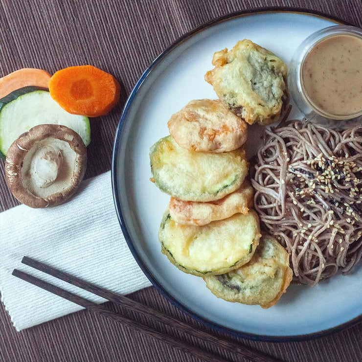Wed, Aug 28 - Ponzu Soba Noodles Served With Vegetable Tempura and Sesame Dressing (Vegan)