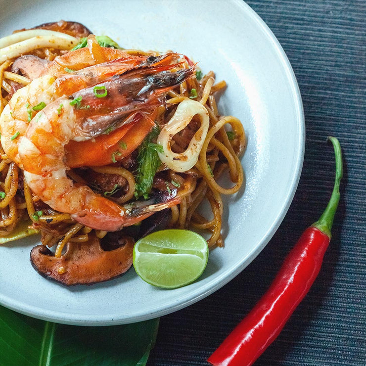 Wed, Aug 14 - Prawn and Squid Mee Goreng - Living Menu
