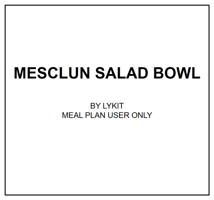Thurs, July 25 - Mesclun Salad Bowl with Citrus Ponzu Dressing - Living Menu