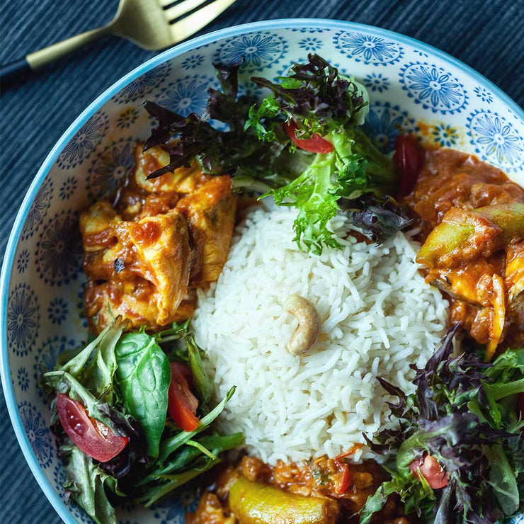 Fri, Aug 2 - Spicy Tomato Barramundi with Rice And House Salad by Tay Kai Yuan - Living Menu
