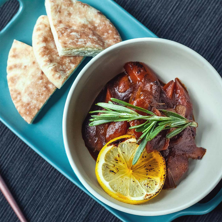 Wed, July 10 - Slow Braised Beef Stew with Pita Bread - Living Menu