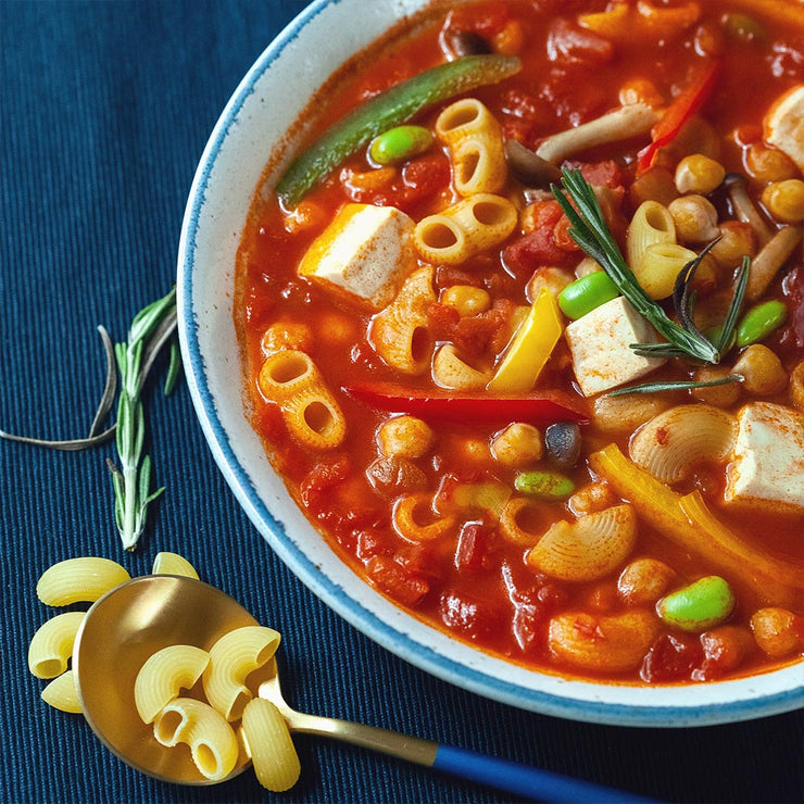 Thu, Nov 14 - Minestrone With Pasta And Chickpea (Vegan) - Living Menu