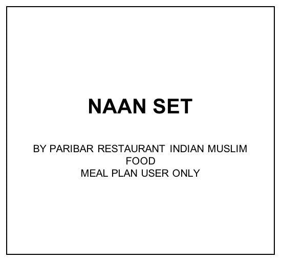 Mon, Dec 30 - Naan Set - Living Menu
