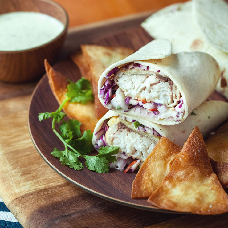 Fri, Dec 6 - Seabass Burrito With Sour Cream Dressing - Living Menu