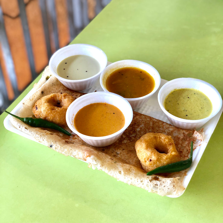 Mon, Sep 23 - Rava Dosa + Vadai (X2) - Living Menu