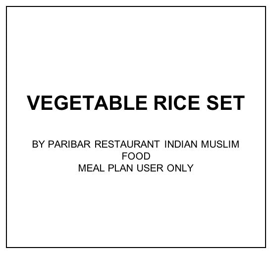 Thu, Jan 16 - Vegetable Rice Set - Living Menu