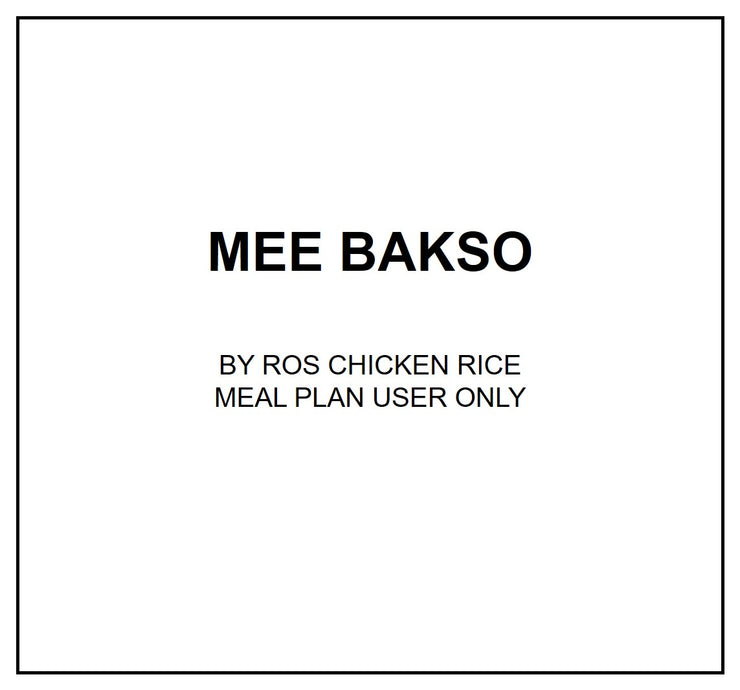 Tue, Sep 10 - Mee Bakso - Living Menu