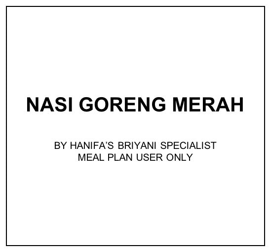 Wed, Feb 19 - Nasi Goreng Merah - Living Menu