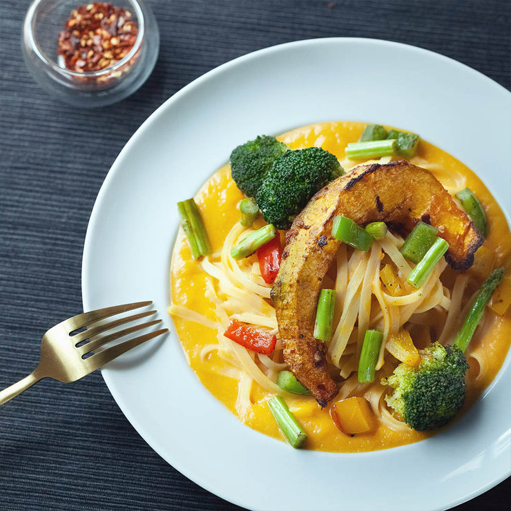 Wed, Aug 21 - Creamy Butternut Squash Pasta With Seasonal Vegetables - Living Menu