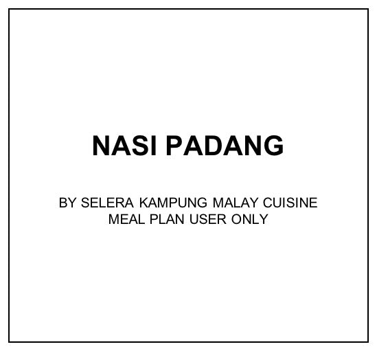 Thu, Mar 19 - Nasi Padang - Living Menu