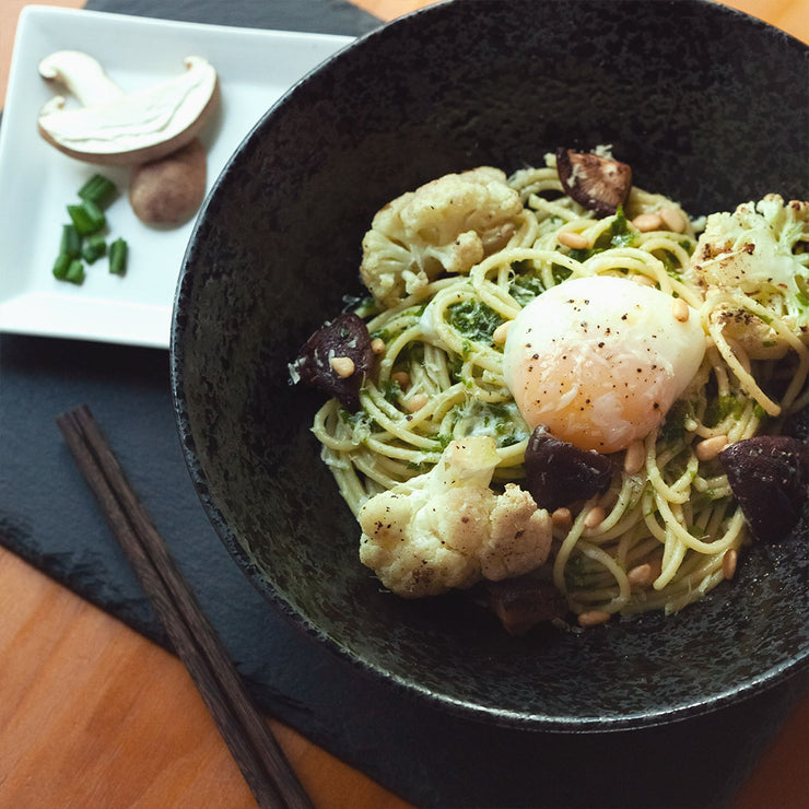 Fri, Dec 27 - Mushroom Pesto Pasta With Onsen Egg - Living Menu