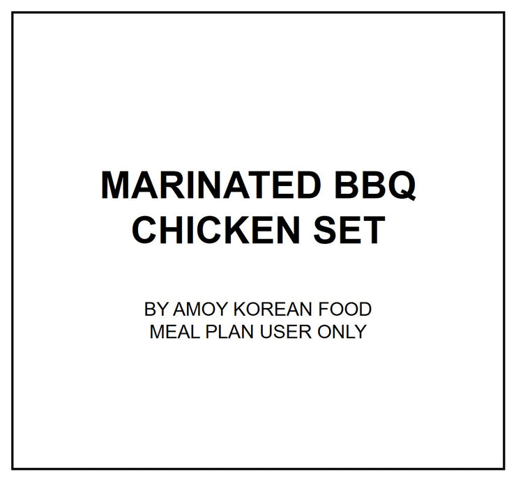 Thu, Oct 10 - Marinated Bbq Chicken Set - Living Menu
