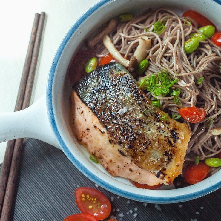 Mon, Aug 19 - Miso Glazed Salmon With Soba And Vegetables - Living Menu