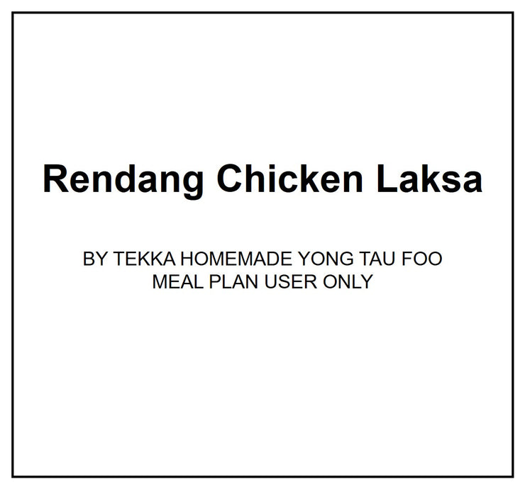 Wed, Apr 1 - Rendang Chicken Laksa - Living Menu