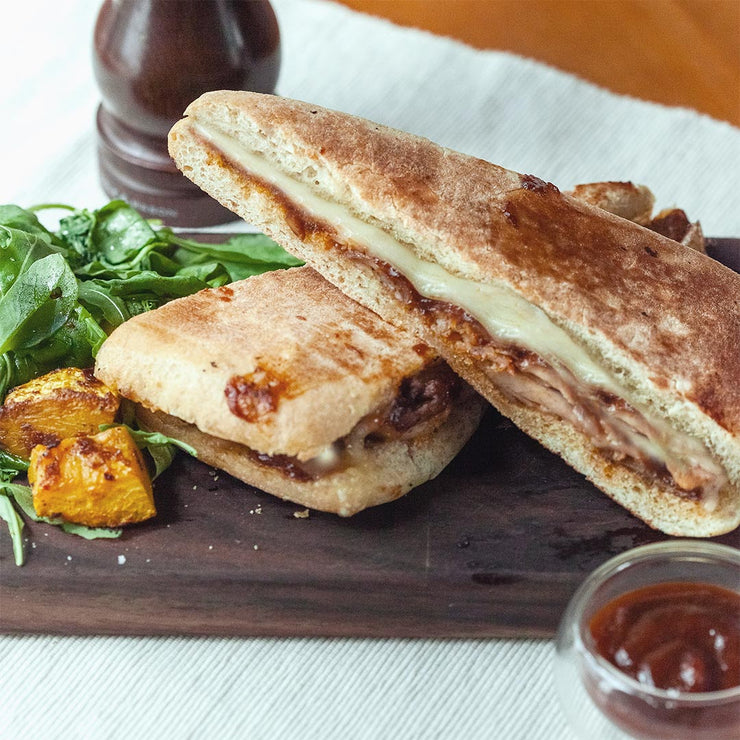 Tue, Aug 20 - Slow Roast Bbq Sauce Chicken Panini With Roasted Pumpkin Salad - Living Menu