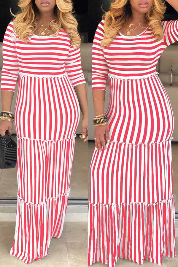 Classic Striped Ground-up Dress